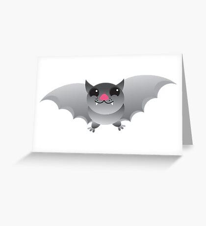 Grey flying bat Greeting Card