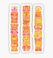 Tiki Totems – Orange Ombré Sticker