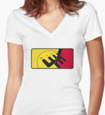 German Motorsport League Women's Fitted V-Neck T-Shirt