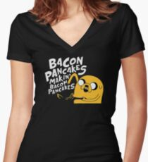 Makin' Bacon Pancakes Women's Fitted V-Neck T-Shirt