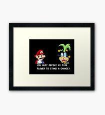 Super Street Fighter Mario Framed Print
