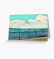 Summer Sailing Art Greeting Card