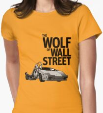 THE WOLF OF WALL STREET-LAMBORGHINI COUNTACH Women's Fitted T-Shirt