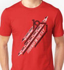 Einschienenbahn rotes T-Shirt Slim Fit T-Shirt