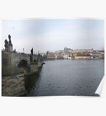 Famous Charles Bridge & Castle in Prague, Czech Republic Poster