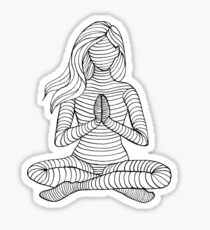 Yoga Girl - Namaste 1 Sticker