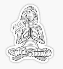Yoga Girl - Namaste 1 Sticker