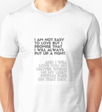 Promise to Put Up a Fight Unisex T-Shirt