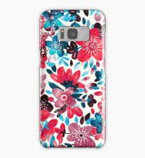 Happy Red Flower Collage Samsung Galaxy Case/Skin