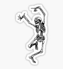 Dancing Skeleton - Transparent Background Sticker