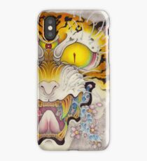 TIGER FACE Cloud and Wave, SAKURA iPhone Case