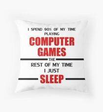 Computer Games Throw Pillow