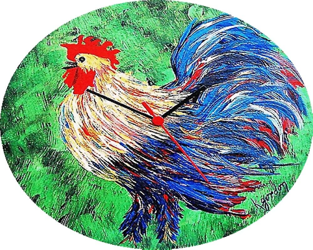Rooster..or ..He moa kâne  by WhiteDove Studio kj gordon