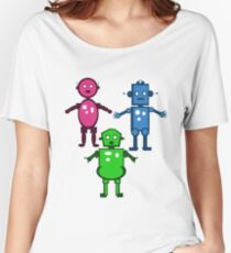 Robot Trio  Women's Relaxed Fit T-Shirt