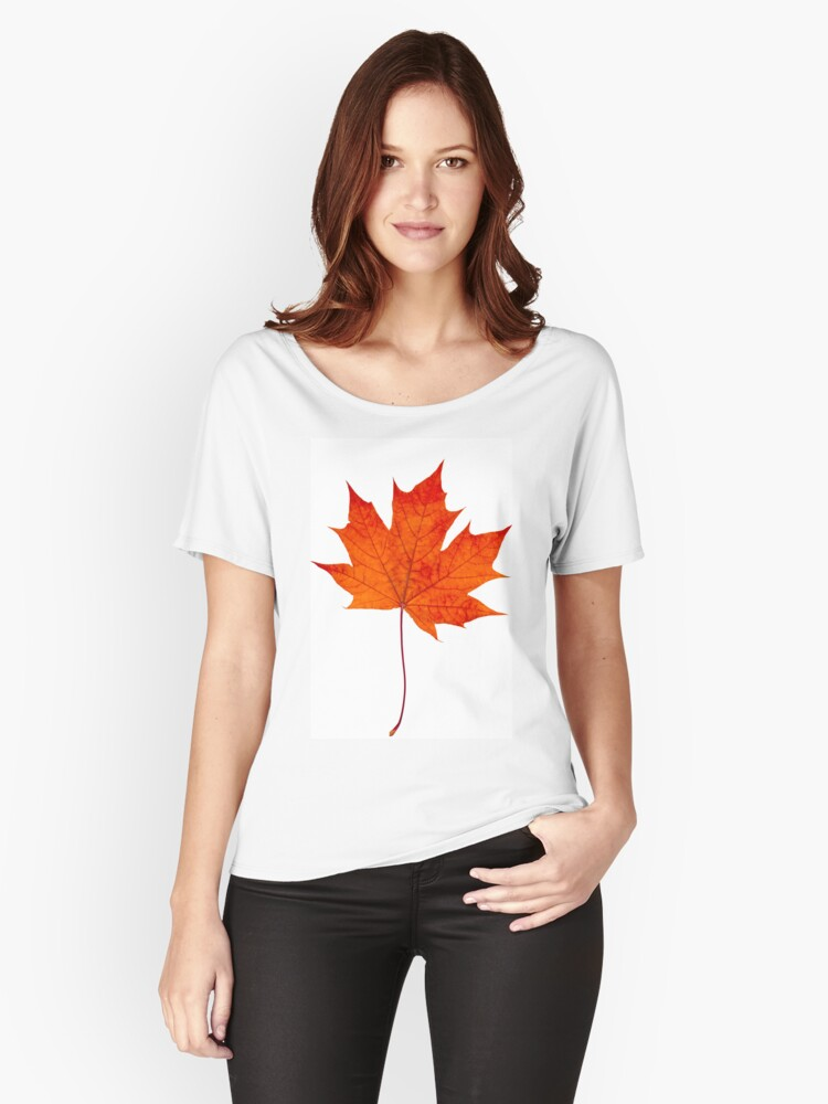 Maple leaf Women's Relaxed Fit T-Shirt Front