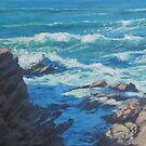 Along the Cliffs - Seascape by Karen Ilari