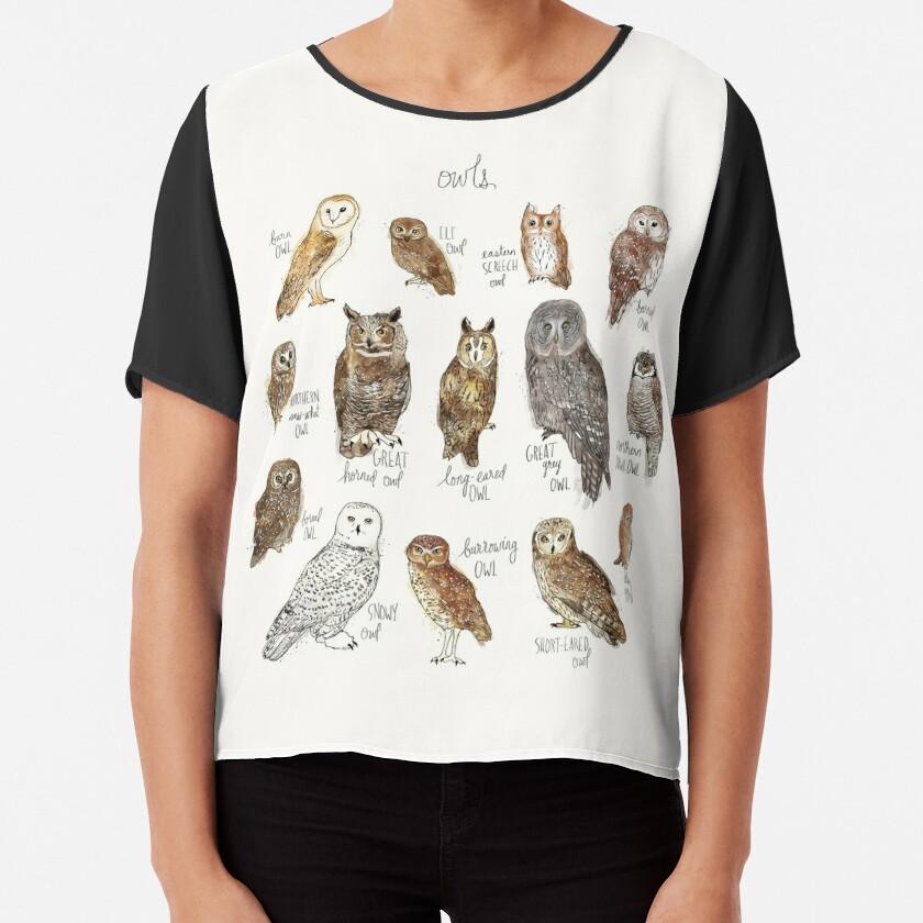 Owls Chiffon Top