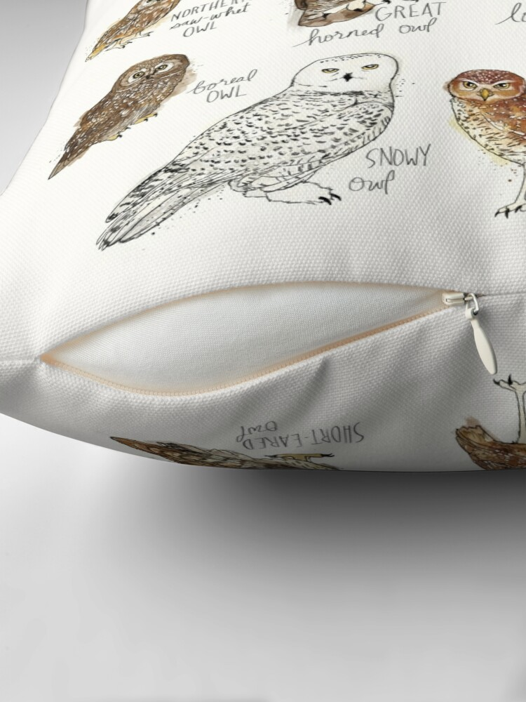 Alternate view of Owls Throw Pillow