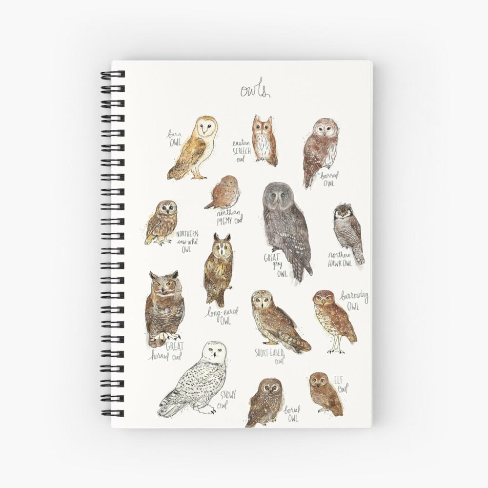 Owls Spiral Notebook