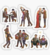 Merlin & the Knights -- sticker set Sticker
