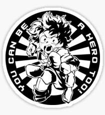 Du kannst auch ein Held sein! Sticker
