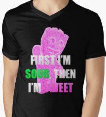 First I'm Sour Then I'm Sweet (Pink) Men's V-Neck T-Shirt