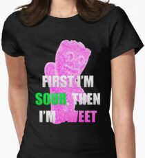 First I'm Sour Then I'm Sweet (Pink) Women's Fitted T-Shirt