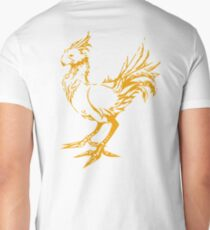 Gold chocobo Men's V-Neck T-Shirt