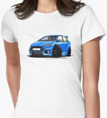 Ford Focus (Mk3) RS Blue Womens Fitted T-Shirt