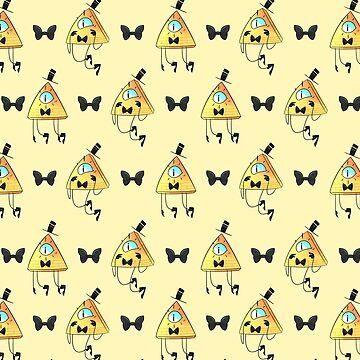 Bill Cipher patterns (Yellow) by AidaDoesDoodles