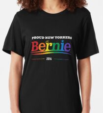 Proud New Yorkers For Bernie Slim Fit T-Shirt