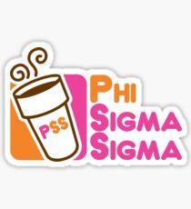 Phi Sig Dunkin Sticker
