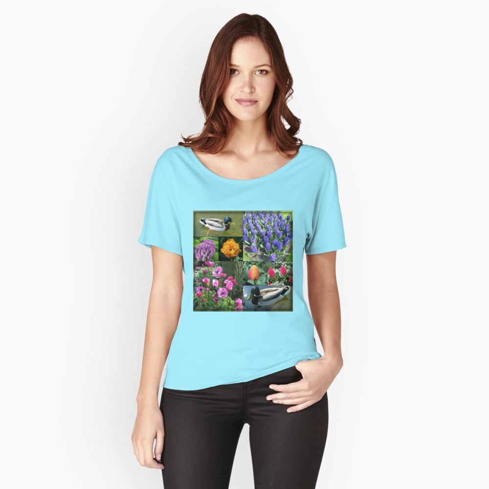 Flowers and Feathers - Keukenhof Collage Loose Fit T-Shirt
