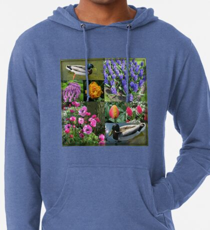 Flowers and Feathers - Keukenhof Collage Leichter Hoodie