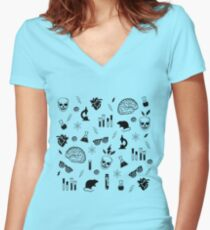 Weird Science in Green Women's Fitted V-Neck T-Shirt