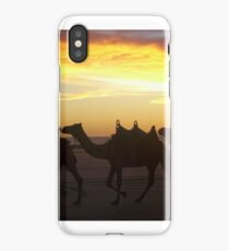 Camels at sunset iPhone Case