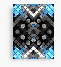 Blue Black Vector Abstract Pattern  Canvas Print