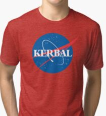Kerbal Space Program NASA logo (large) Tri-blend T-Shirt