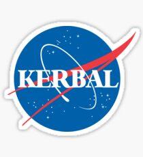 Kerbal Space Program NASA logo (small) Sticker