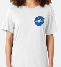 Kerbal Space Program NASA logo (small) Slim Fit T-Shirt