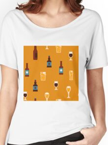Craft beer glass and bottle icons Women's Relaxed Fit T-Shirt