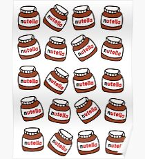 nutella pattern Poster