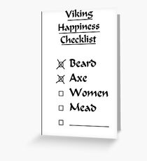 Viking Happiness Checklist Greeting Card