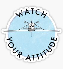 Watch Your Attitude - Inverted Cessna 172 Sticker
