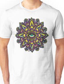 Dharma Wheel Neon Mandala Unisex T-Shirt