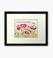 Happy Mother's Day! - Red Poppy Framed Print