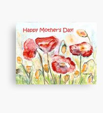 Happy Mother's Day! - Red Poppy Canvas Print