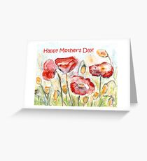 Happy Mother's Day! - Red Poppy Greeting Card