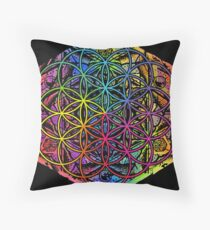 Flower of Life Mandala Color 1 Throw Pillow