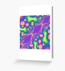 Coloured Fantasy Fractal  Greeting Card